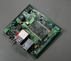 Foto eines Single-Board-Computers mit CARAMBOLA2